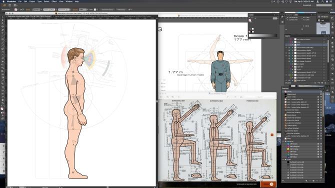 Work-in-progress average male human form factor