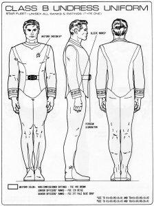 Starfleet Uniform illustration by Aridas Sofia