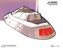 Design of the Enterprise B/C deck with officer's lounge view ports.
