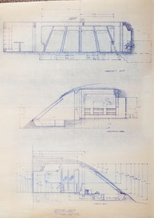 Orignal blueprint elevations of the Officer's Lounge of the Enterprise, for ST:TMP.
