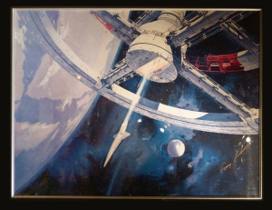 Robert McCall poster art for 2001: A Space Odyssey, signed by Gary Lockwood.