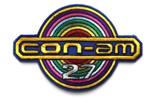 Embroidered Conglomerates Amalgamated 27 mining station patch from the 1981 sci-fi film Outland.
