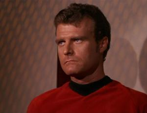 Eddie Paskey as Lt. Leslie in the original series Star Trek.
