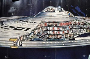 Detail of the saucer section from David Kimble's refit-Enterprise cutaway poster for Star Trek: The Motion Picture.