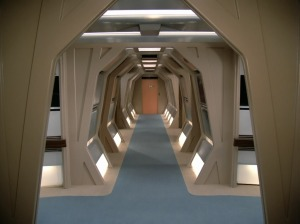 Engineering corridor set from Star Trek: The Next Generation, which was repurposing the straight corridor set section from Star Trek: The Motion Picture.