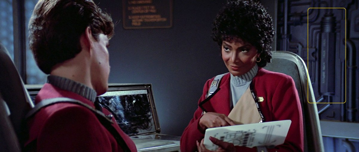 """Sonobuoy case used in wall machinery panels in the Spacedock transporter room in """"Star Trek III: The Search for Spock""""."""
