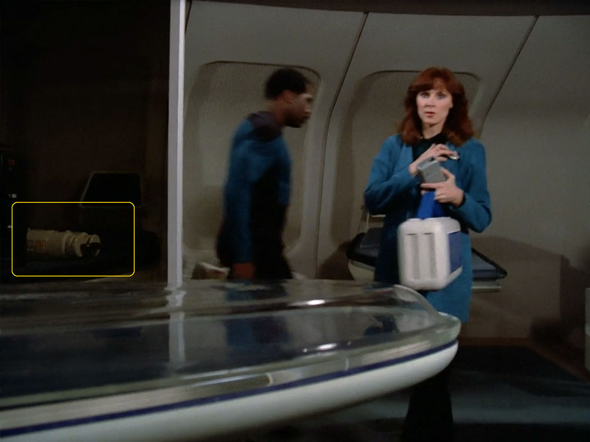 "Sonobuoy case used as a prop in the TNG episode ""Encounter at Farpoint""."