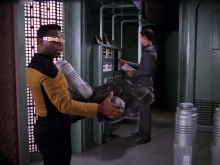 "Sonobuoy case used as a prop in the TNG episode ""The Ensigns of Command""."