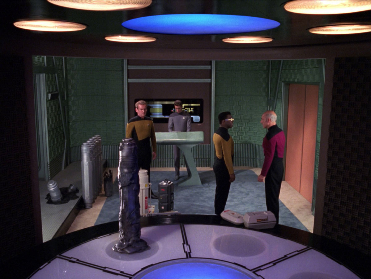 """Sonobuoy case used as a prop in the TNG episode """"The Ensigns of Command""""."""