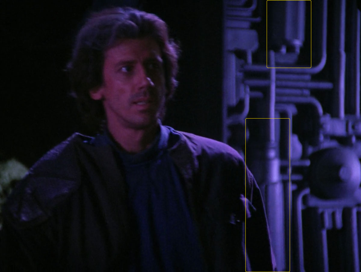 """Sonobuoy cases used as set decoration in the TNG episode """"The High Ground""""."""