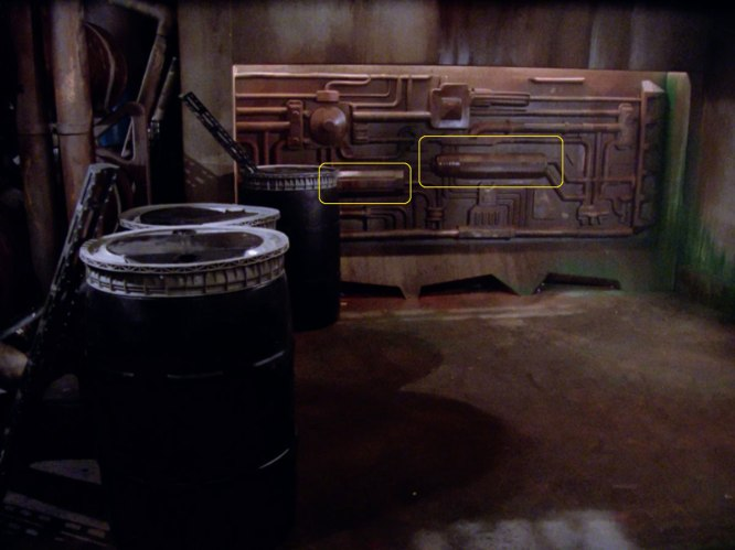 "Sonobuoy cases used as set detailing in the TNG episode ""Too Short a Season""."