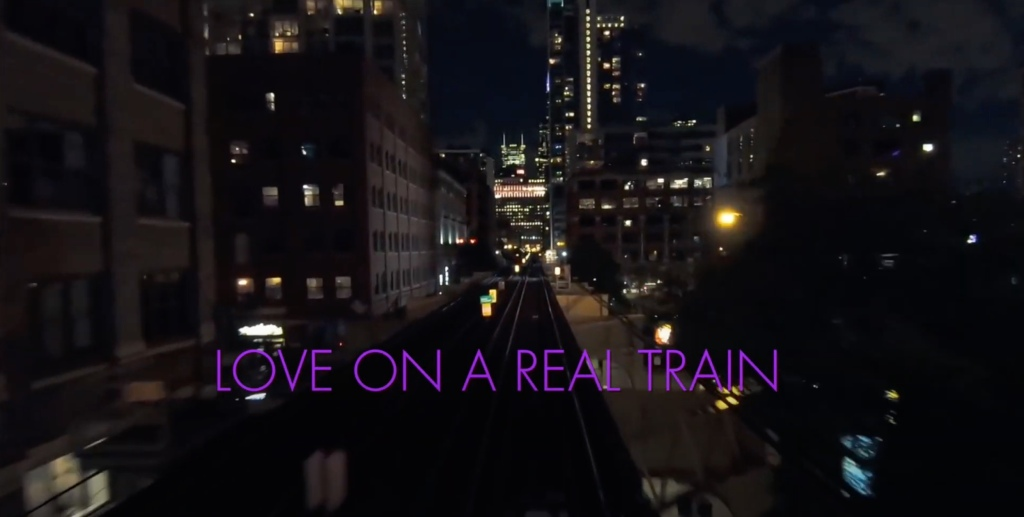 Love on a real train music video.