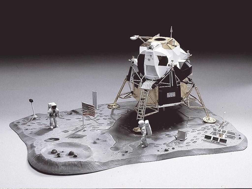 "Assembled Monogram ""First Lunar Landing"" model kit."