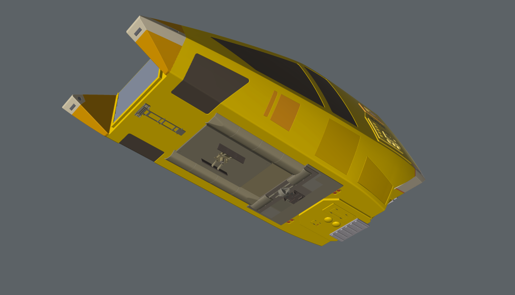 """Underside of the workbee 3D model showing the """"Package Main Attachment Connector"""". (Image: Third Wave)"""