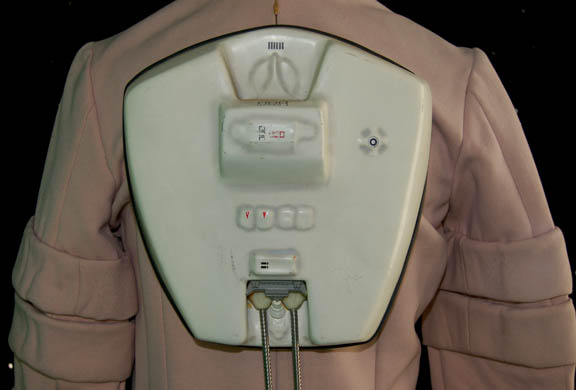 Backpack component of the enviro tech suit costume used in ST:TMP and ST:WOK.