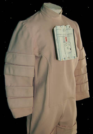 Front of the enviro tech suit costume used in ST:TMP and ST:WOK.