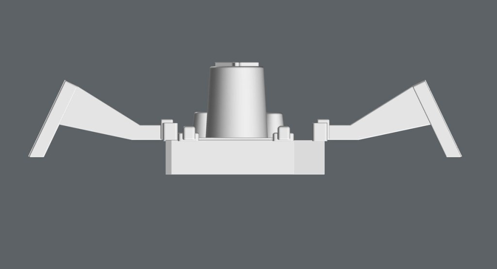 """3D model front view of the Workbee """"Package Main Attachment Connector"""". (Image: Third Wave)"""