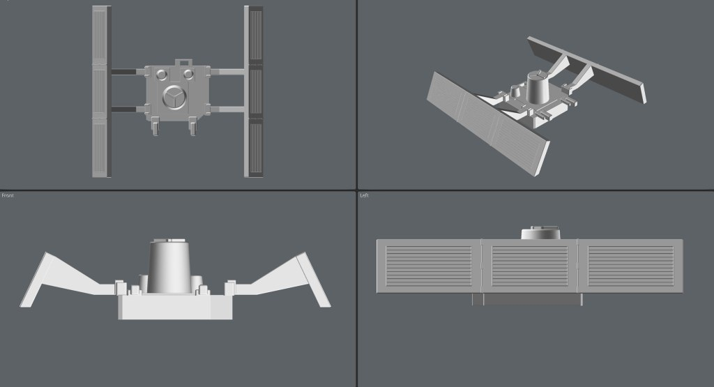 """3D model ortho views of the Workbee """"Package Main Attachment Connector"""". (Image: Third Wave)"""