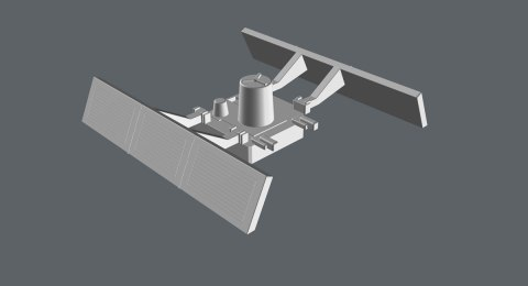 "3D model perspective view of the Workbee ""Package Main Attachment Connector"". (Image: Third Wave)"
