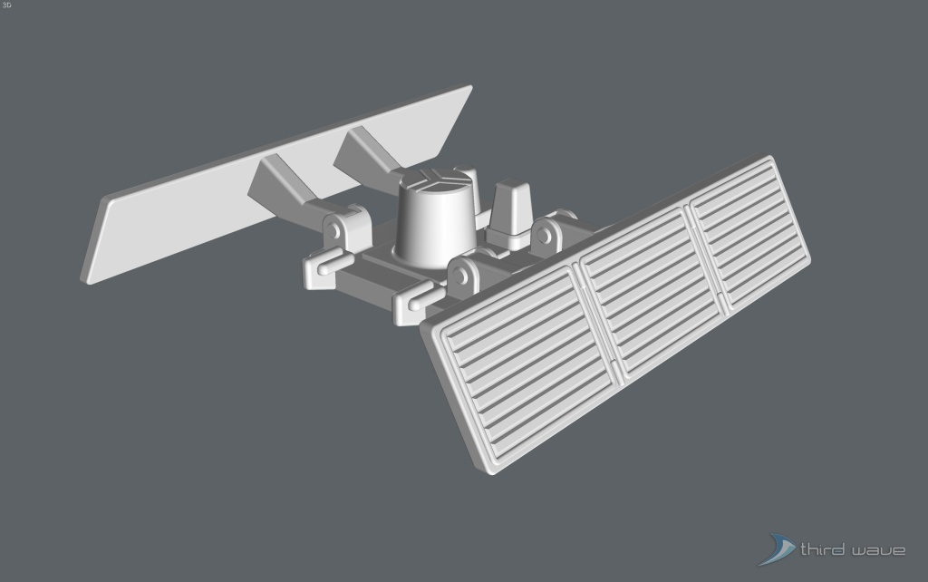 3D perspective view of the original package main attachment connector assembly. (Image: Third Wave)