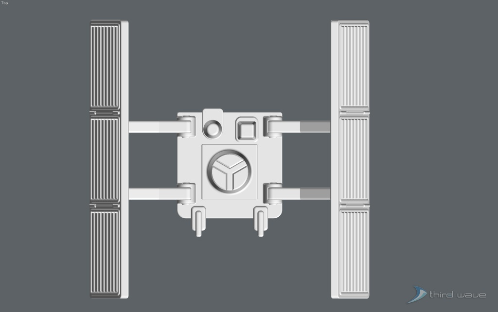 Top view of the original package main attachment connector assembly. (Image: Third Wave)