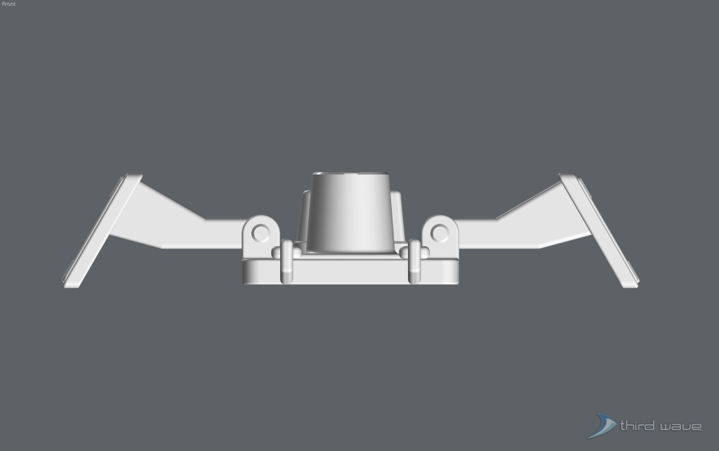 Front view of the original package main attachment connector assembly. (Image: Third Wave)