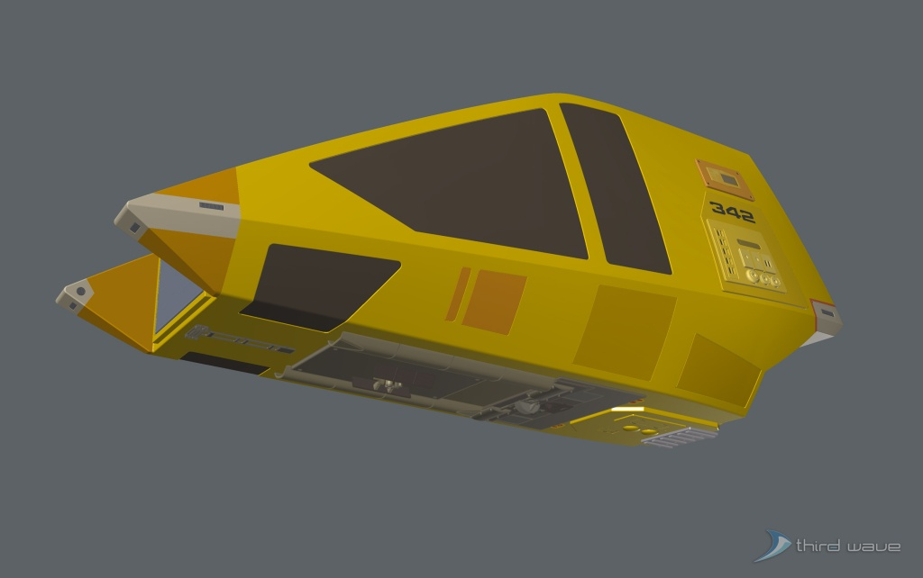 Color 3/4 view of the underside of the workbee. (Image: Third Wave)