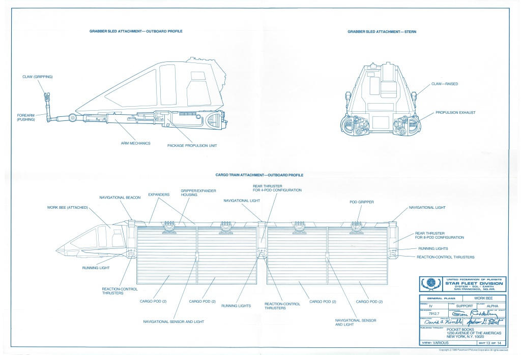 Sheet 13 of the official Star Trek: The Motion Picture blueprints, by David Kimble.