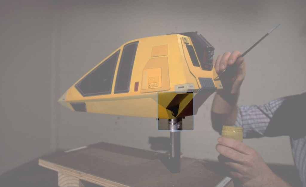 Original Workbee filming miniature with paint detailing being applied at Magicam. (Image courtesy: Ben Robinson)