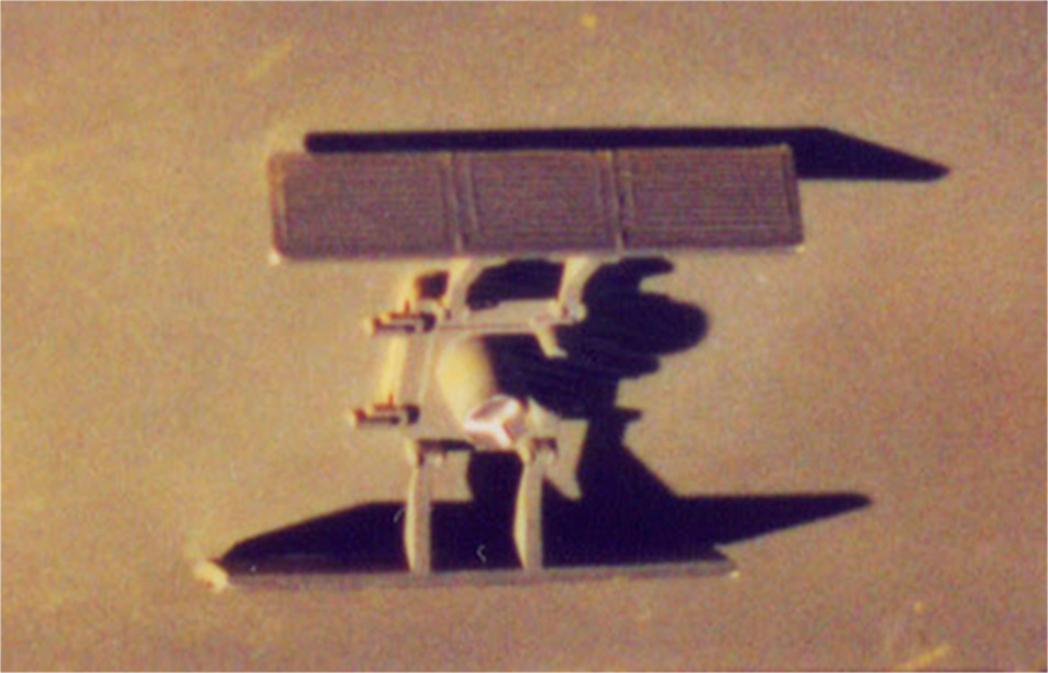 """Reference image of the """"package main attachment connector"""" piece on the original workbee filming miniature for ST:TMP."""