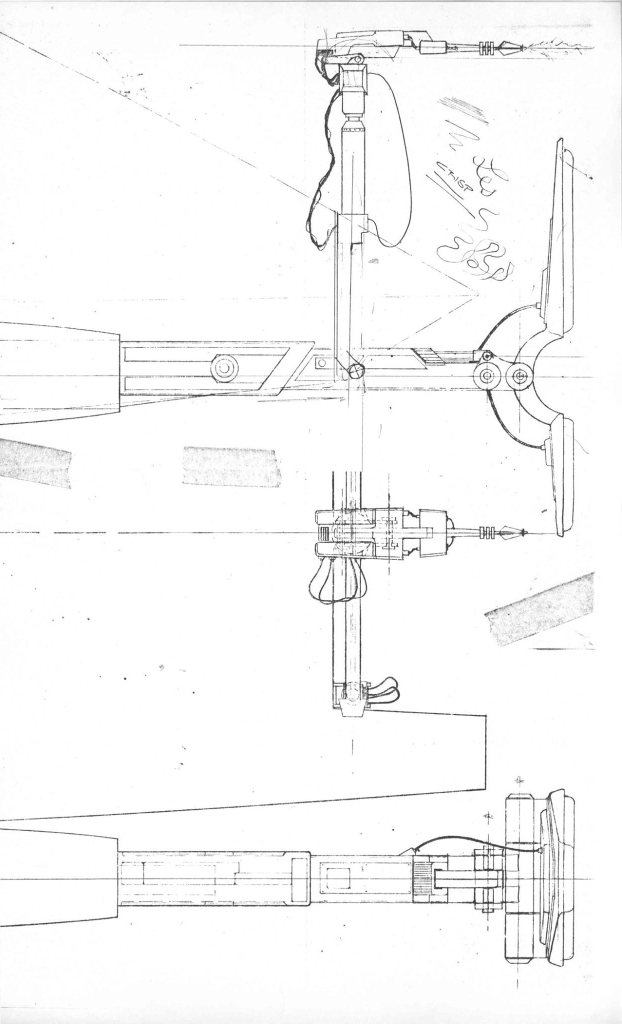 Workbee pusher/welder work sled attachments production drawing by Leslie Ekker.