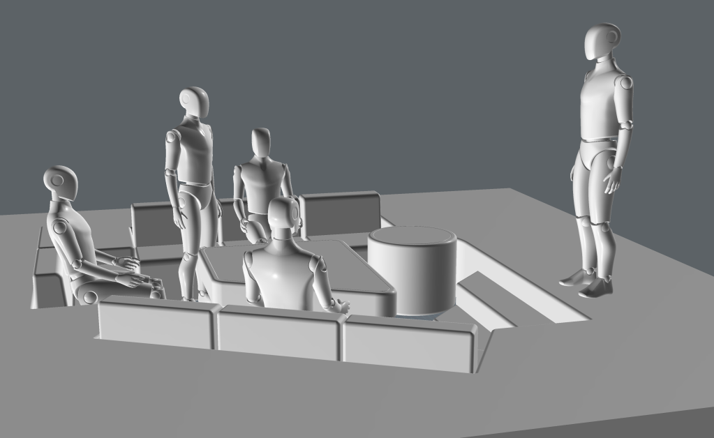 3D model of the Enterprise Recreation Deck.