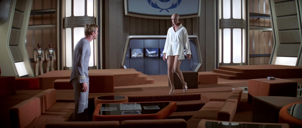 Decker and Ilia-probe on the recreation deck of the Enterprise, in a scene form Star Trek: The Motion Picture. (Image: Courtesy Paramount Pictures)
